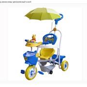 Велосипед детский Geoby трёхколёсный синий фото