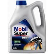 Всесезонное моторное масло Mobil 15W40 Super Бенз.4L фото