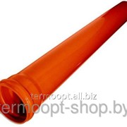 Труба канализационная 160/500/3,2 оранжевая фото