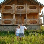 Монтаж домов из профилированного бруса, кровельные работы фото