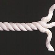 Веревка хлопчатобумажная ХБ крученая 3-прядная диам. 10 мм в отрезках по 44 м фото