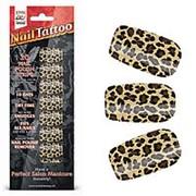 Набор лаковых полосок для ногтей Леопард Nail Foil фото