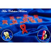 Symbol of solidarity AIDS metal badge фото