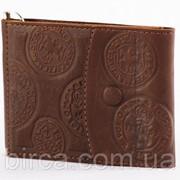 Зажим для денег из натуральной кожи ручного дубления 068-07-03