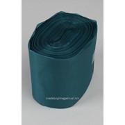 Лента шелковая 100 мм, тёмная бирюза (рул/90 м) фото