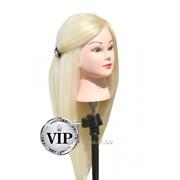 Учебный манекен 100% натуральных волос, длина 75-80 см, Белый фото