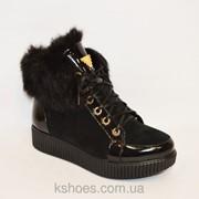 Зимние ботиночки с мехом El Paso 1592 фото