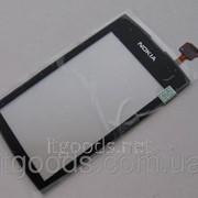 Тачскрин / сенсор (сенсорное стекло) для Nokia Asha 305 | 306 (черный цвет) фото