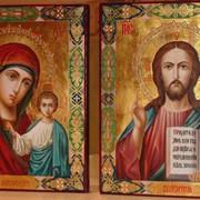 Венчальные иконы, Икона Спасителя и икона Божией Матери фото