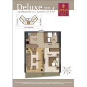 Роскошные 2-х комнатные квартиры делюкс на 8-ом этаже фото