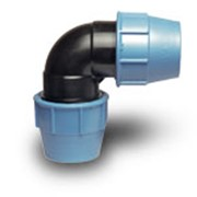 Колено зажимное производства итальянской компании UNIDELTA, колено пластиковое фото