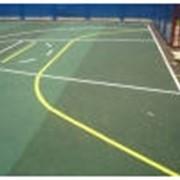 Разметка спортивных площадок фото