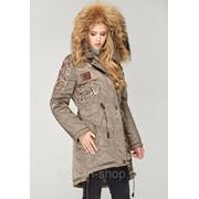 Куртка парка женская зимняя с мехом в 7ми цветах К-7/1+ фото