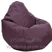 Серое кресло-мешок груша 100*75 см из микро-рогожки S-100*75 см, сиреневый фото