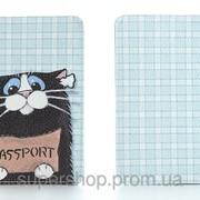 Кожаная обложка на паспорт Котенок 156-155348 фото