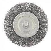 Сибртех Щетка для дрели, 60 мм, плоская со шпилькой, витая проволока Сибртех фото