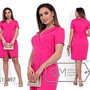Платье женское с имитацией запаха (3 цвета) - Фуксия НВ/-1827/1 фото