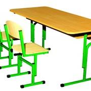 Набор мебели для детских садов, Купить Стол детский 2-местный Код: 0155, Стул Т-образный Код: 0290 фото