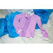 Классическая рубашка фиолетового цвета фото