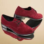 Женские туфли на шнуровке из кожи или замша в расцветках. ВВ-27-0818 фото
