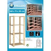 Полка - Стеллаж деревянный (4 полки) для магазина, погреба гаража бани фото