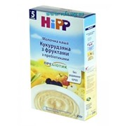 Каша Hipp молочная Кукурузная с фруктами с пребиотиками 250г фото