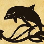 Флюгер на крышу Дельфин фото