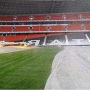 Восстановление футбольного поля после зимнего периода фото