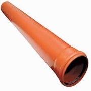 Труба ПВХ для ливневой канализации 110 наружная 1,00м фото