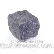 Брусчатка гранитная Габро черная 10Х10Х10 400001 фото