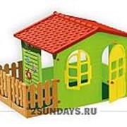 Mochtoys домик с забором садовый 10498 фото