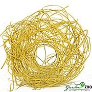 Каркас для букета 25 см ротанг гнездо желтый фото