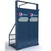 Антивандальная защита холодильника двудверная (установленных на улице) фото