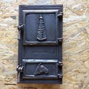 Дверь печная спаренная квадратная 490*270 фото