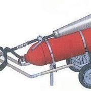 Передвижной углекислотный огнетушитель ВВК-18 фото