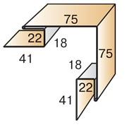 Планка угла наружного сложного ПУНС-75х75х3000 фото