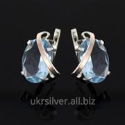 Серебряные серьги Гейша фото