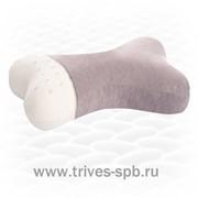 Ортопедическая подушка для путешествий в форме «косточки» из натурального латекса ТОП-210 фото