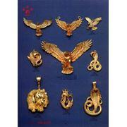 Кулоны из золота на заказ разных видов фото