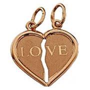 Золотая половинка сердца в подарок в Молдове фото