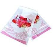 Рушник Голуби розовый фото