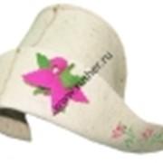 Шляпа Герда цветы белый фото