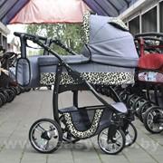 Коляска детская модульная 2/3 в 1 Bogus Dino Leo Grey фото