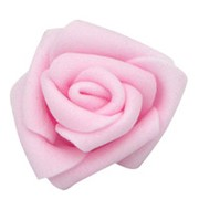 Декор свадебный Роза нежно-розовая 6см 5шт фото