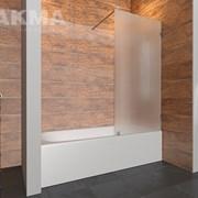 Стеклянная душевая шторка для ванной   фото