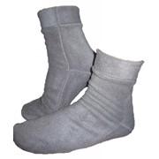 Носки флисовые светло-серые фото