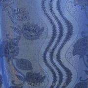 Штора на метраж синяя 417 фото