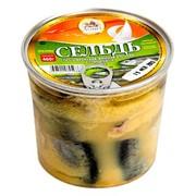 Пресерва сельдь тихоокеанская жирная кусочки в горчичном соусе 460 г фото