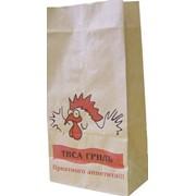 Пищевая упаковка - жиростойкие пакеты из бумаги под куры-гриль тенге. фото