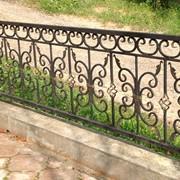 Ограда ритуальная (кованая) фото